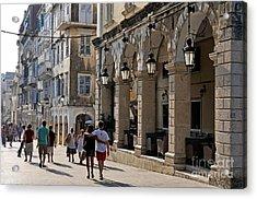 Walking At The Old City Of Corfu Acrylic Print