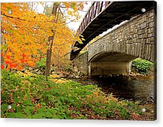 Acrylic Print featuring the photograph Walking Bridge In Fall by Amazing Jules