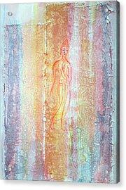 Walking Buddha Acrylic Print by Asha Carolyn Young