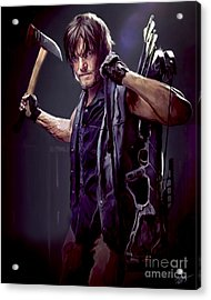 Walking Dead - Daryl Dixon Acrylic Print by Paul Tagliamonte