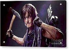 Walking Dead - Daryl Acrylic Print by Paul Tagliamonte