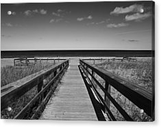 Walking Grand Marais  Mono Acrylic Print