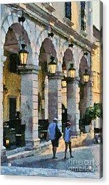 Spianada Square In Corfu City Acrylic Print