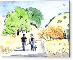 Walking In The Park Acrylic Print