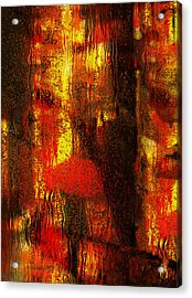 Walking In The Rain Acrylic Print by Jack Zulli