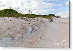 Walking In The Sand Acrylic Print by Michelle Wiarda