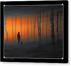 Walking Kurt Acrylic Print by Pedro L Gili