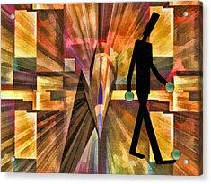 Walking Man Acrylic Print by Robert Maestas