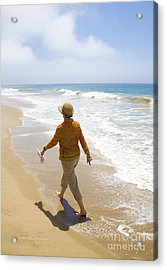 Walking On The Beach Acrylic Print
