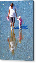 Walking On Water Acrylic Print by Steve Taylor