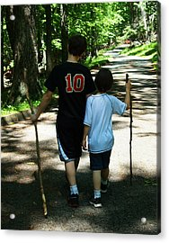 Walking Sticks Acrylic Print by B Wayne Mullins