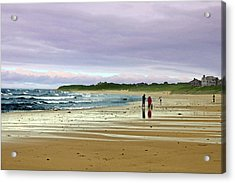 Walking The Dog After A Storm Acrylic Print