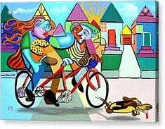 Walking The Dog Acrylic Print by Anthony Falbo