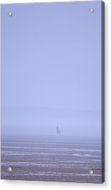 Walking The Dog In The Mist Acrylic Print