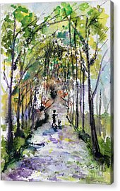 Walking The Dog On A Perfect Day Acrylic Print