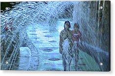Walking Through The Fountains Acrylic Print