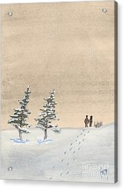 Walking Together Acrylic Print by Robert Meszaros