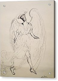 Walking With An Angel Acrylic Print