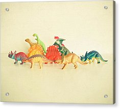 Walking With Dinosaurs Acrylic Print by Cassia Beck