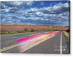Acrylic Print featuring the digital art Walking With God by Margie Chapman
