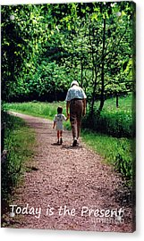 Walking With Grandma Acrylic Print