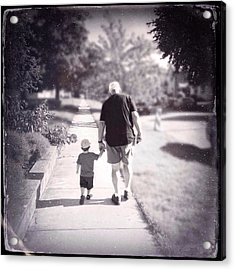Walking With Grandpa Acrylic Print