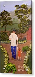 Walking With Papa Acrylic Print