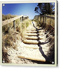 Walkway Acrylic Print by Les Cunliffe