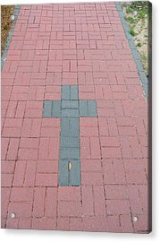 walkway of Faith Acrylic Print by Aaron Martens