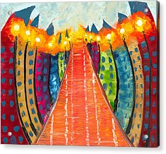 Walkway Of Whimsy Acrylic Print by Jessilyn Park