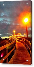 Walkway To Atlantic Acrylic Print by Cindy Croal