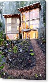 Walkway To Modern House Acrylic Print by Will Austin
