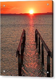 Acrylic Print featuring the photograph Walkway To The Sun by Alan Socolik