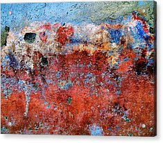 Acrylic Print featuring the digital art Wall Abstract 17 by Maria Huntley