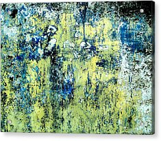 Acrylic Print featuring the digital art Wall Abstract 27 by Maria Huntley