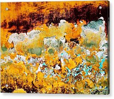 Acrylic Print featuring the digital art Wall Abstract 28 by Maria Huntley