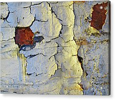 Wall Abstract 4 Acrylic Print by Mary Bedy