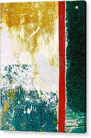 Acrylic Print featuring the digital art Wall Abstract 71 by Maria Huntley