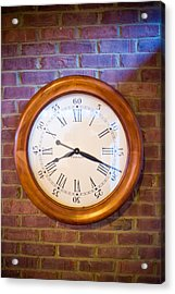Wall Clock 1 Acrylic Print by Douglas Barnett