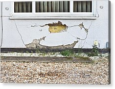 Wall Damage Acrylic Print by Tom Gowanlock