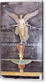 Wall  Fragment With Winged Female Nike On Black Ground Acrylic Print