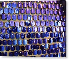 Wall Of Blue Acrylic Print by Anna Villarreal Garbis