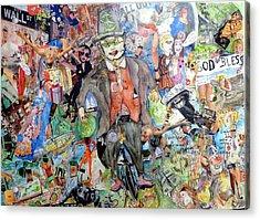 Wall St./main St. Acrylic Print by Barb Greene mann