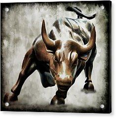 Wall Street Bull II Acrylic Print