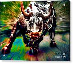 Wall Street Bull Acrylic Print by Marvin Blaine