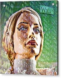 Wall Street Acrylic Print by Chuck Staley