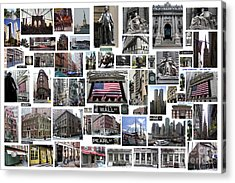 Wall Street Financial District Collage Acrylic Print
