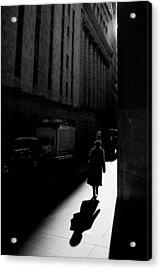 Wall Street In New York City Acrylic Print by Ilker Goksen