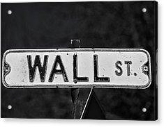 Wall Street Acrylic Print by Karol Livote