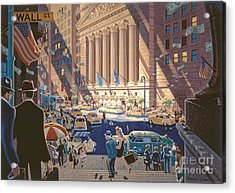Wall Street Acrylic Print by Michael Young